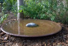 Large Spun Copper Dish – Mallee Bird Baths and Water Bowls Concrete Fountains, Garden Fountains, Porch Garden, Garden Pots, Garden Ideas, Modern Bird Baths, Bird Bath Bowl, Copper Dishes, Bird Bath Fountain