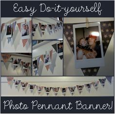 Easy DIY Holiday Photo Pennant Banner