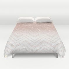 A modern, girly and chic pattern with faux rose gold glitter ombre and a geometric chevron stitch pattern.<br/> girly chevron, modern chevron pattern, faux rose gold...