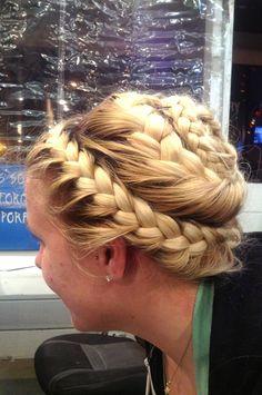 half off b07b6 07cf3 Double French braid Daily Hairstyles, Crown Hairstyles, Braided Hairstyles