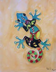 Resultado de imagen de gecko painting Geckos, Painting, Image, Google Search, Animales, Printmaking, Ideas, Painting Art, Paintings