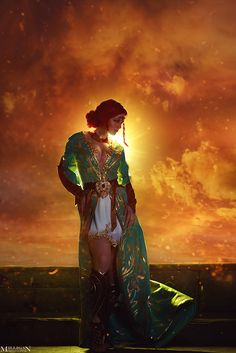 Triss Merigold from The Witcher 3 Cosplay The Witcher Geralt, Witcher Art, Triss Cosplay, Triss Merigold Cosplay, Game Character, Character Design, Witcher Wallpaper, The Witcher Wild Hunt, Fantasy Characters