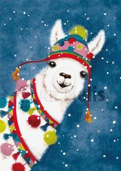 Nieuwjaarsbrief An Melis Illustration Inspiration, Illustration Noel, Winter Illustration, Christmas Illustration, Christmas Drawing, Christmas Paintings, Christmas Art, Vintage Christmas, Christmas Animals
