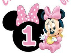 Disney babies baby minnie ears second birthday heat transfer iron on Minnie Mouse Cupcake Toppers, Minnie Mouse Birthday Decorations, Minnie Mouse Theme Party, Minnie Mouse Birthday Invitations, Mickey Mouse 1st Birthday, Baby Mickey Mouse, Festa Mickey Baby, Minnie Mouse Images, Baby Disney