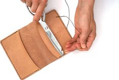 Make a leather wallet. Wanting to learn to make a nice leather iPhone wallet and these would make good xmas presents.