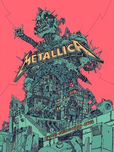 Metallica Concert, Metallica Art, Rock Band Posters, Cyberpunk Art, Thrash Metal, Deviantart, Concert Posters, Music Posters, Rock Art