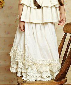 Loving this Vanilla Cream Felicity Skirt - Infant & Girls on #zulily! #zulilyfinds