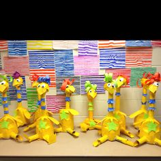 Paper mâché and recyclable objects sneetches from dr Seuss. 2nd grade did a great job!!!