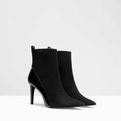 Image 2 of HIGH HEEL SOCK STYLE ANKLE BOOT from Zara