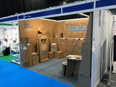 Corrugated cardboard tradeshow stand booth for Cepac Ltd