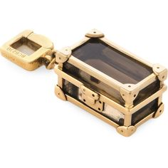 Louis Vuitton Women's Vintage Louis Vuitton Traveling Trunk Charm (16.820 DKK) ❤ liked on Polyvore featuring jewelry, pendants, no color, charm pendant, lobster claw clasp charms, 18k pendant, charm jewelry and 18 karat gold jewelry