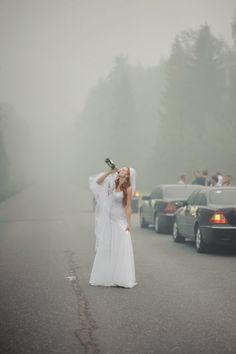 The bride… .
