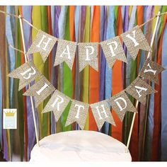 Happy Birthday Banner Cake Topper Birthday Cake Topper