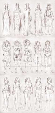 #Dress #Skirt #Folds #Lace Inavesu Clothing - The girls by NadezhdaVasile.deviantart.com on @deviantART