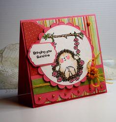 Thinking of You Handmade Card - Greeting Card -  Bringing You Sunshine - Penny Black - OOAK