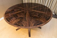 Johnson Furniture is a cabinet making business producing bespoke furniture specialising in expanding circular dining tables Expanding Round Table, Circular Dining Table, Cabinet Making, Bespoke Furniture, Interior Design, Interiors, Home Decor, Woodworking, Nest Design