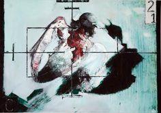 """von Mario Reinhold/ """"OHNE TITEL IN AFGHANISTAN""""/ Öl auf Leinwand"""