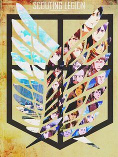 Attack on Titan ~~ Crests :: [ Scouting Legion - SNK by SkywalkerBlue on deviantART ]