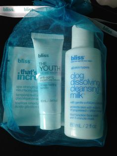 Bliss The Youth Fairy Gift/Travel Set  Youth as we know it moisture cream  New