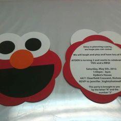 Elmo party invitation idea