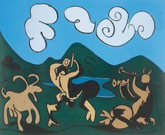Faunes et chèvre (1959) - Pablo Picasso