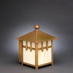 Northeast Lantern Lodge 1 Light Outdoor Flush Mount Finish: Raw Copper, Shade Type: Caramel