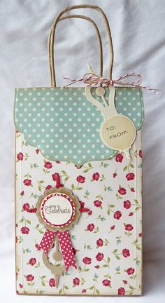 Gift bag by Gloria Stengel using the Retro Mod Clocks die templates