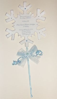 Frozen party invitation ideas - Olaf, wand etc