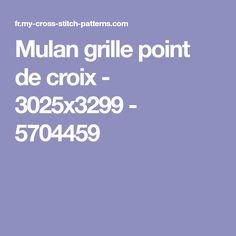Mulan grille point de croix - 3025x3299 - 5704459