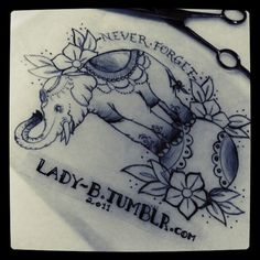 circus elephant tattoo   lady-b:Circus Elephant I started a week or so ago :)mmh, this reminds ...