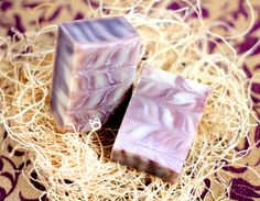 Naturally colored with Alkanet Root, this soap is easy to make. Recipe + tutorial.