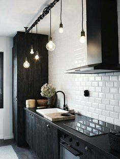 26 fantastiche immagini in cucina nera su Pinterest | Cucina moderna ...