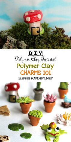 Want to make some tiny charms? Anything is possible with polymer clay! Use this starter guide to learn which materials and supplies you will need and where to find them. Once you've got your supplies ready, you can start making adorable miniatures for dollhouses, fairy gardens, jewlery, and more. Have fun with it!