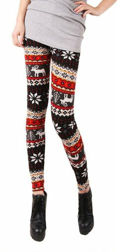 217ebcb32 Amazon.com  Women s Multi-Style Knitted Tights Leggings with Nordic  Snowflake  amp