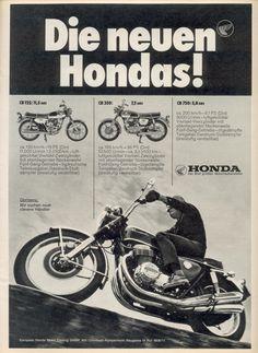 Honda 750, Honda Bikes, Honda Motorcycles, Motorcycle Baby, Motorcycle Posters, Old Advertisements, Advertising, Classic Bikes, Custom Bikes