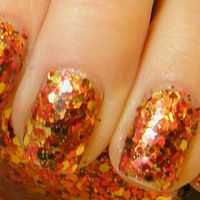 Autumn Leaves: hand mixed glitter nail polish Full size .5 oz.