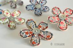 Just finished making some of my fabric flower brooches. I went to a show recently and bought some lovely Liberty fabric, just love the litt...