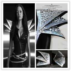 Aliexpress.com : Buy Lady gaga fashion full rhinestone bling armour epaulette ds from Reliable ds lite free games suppliers on Miss zhang's Store . $71.56