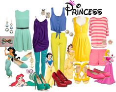 """""""Disney Princess Casual""""  Really cute spring outfits"""