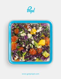 This simple, nutrient dense salads boasts almost all the colors of the rainbow, and will make you feel like you're on a tropical vacation!