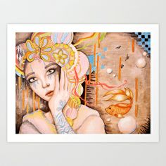 Bubbles Art Print by Juliette Vaissiere - $18.00