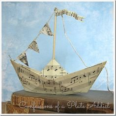 CONFESSIONS OF A PLATE ADDICT Summery Sheet Music Sailboats