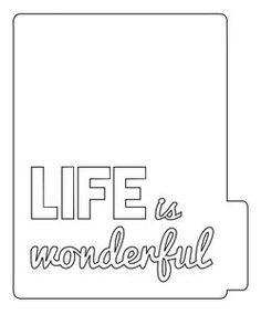 Life is Wonderful mini album cut file by Christine Newman | Write Click Scrapbook