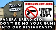 Statement On Panera Bread Gun Ban from Former Deputy Sheriff Vincent L. DeNiro...(It is real easy, Boycott Panera. Call them and let them know we are no longer going to eat there.)