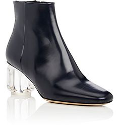 The Row Acrylic-Glass-Heel Leather Ankle Boots - Boots - 505200848