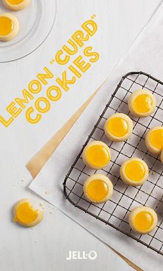 "Celebrate springtime with cookies that are bright like the sun. Making Lemon ""Curd"" Cookies is easy. Get started with JELL-O Vanilla Flavor Instant Pudding, JELL-O Lemon Flavor Gelatin and a few other simple ingredients. Repin and share the lemony goodness."