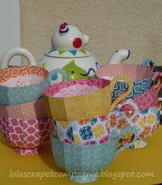 Lolascrap and company: Paper Tea Cups  tutorial