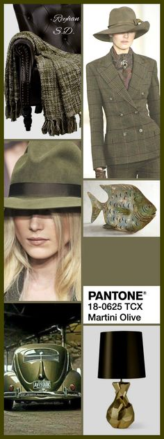 '' Martini Olive: Pantone Fall/ Winter 2018-2019 Color Trends '' by Reyhan S.D.