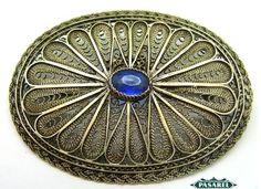 Pasarel - Bezalel Sterling Silver Filigree Brooch, Jerusalem, Israel, 1950's. $145.00