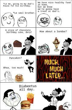 Rage comic diabeetus.